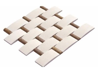 Hasır Mozaikler 5 X 10 -1,9 X 5  LIMESTONE-NOCHE MIX TRV. (K-344)