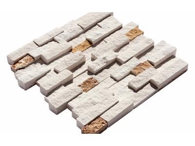 Boyutlu Mozaikler 2,5 X 5 - 2,5 X 7,5 - 2,5 X 10  LIMESTONE-YELLOW TRV.MIX (K-373)